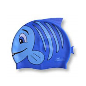 SwimFin Children's Swimming Aid - Child's Swimming Cap, Blue Fish