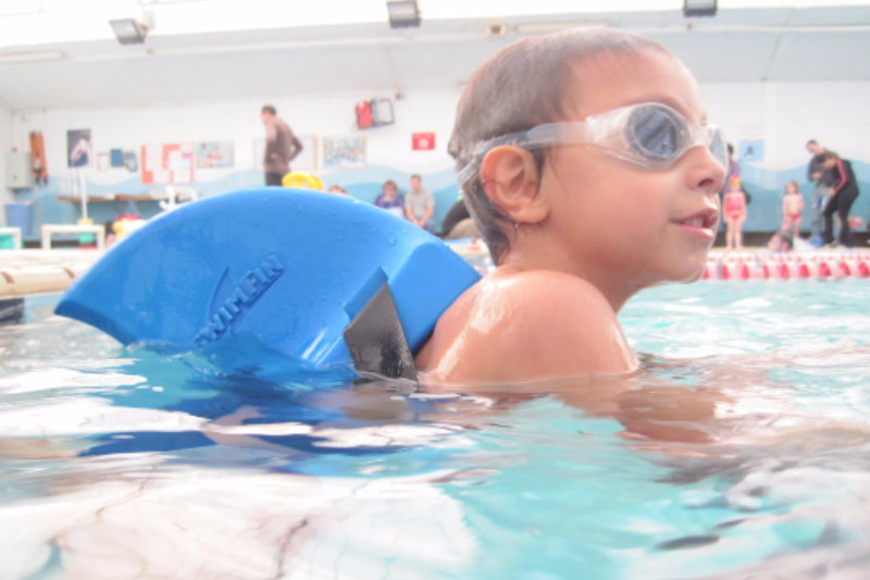 Intermediate Swimmer Using SwimFin Children's Swimming Aid