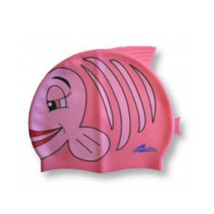 SwimFin Children's Swimming Aid - Child's Swimming Cap, Pink Fish