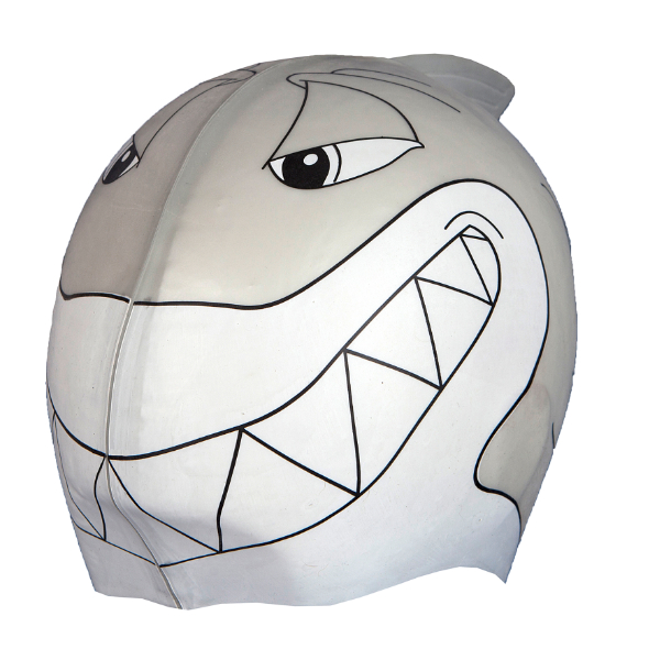 SwimFin Children's Swimming Aid Grey Shark Cap