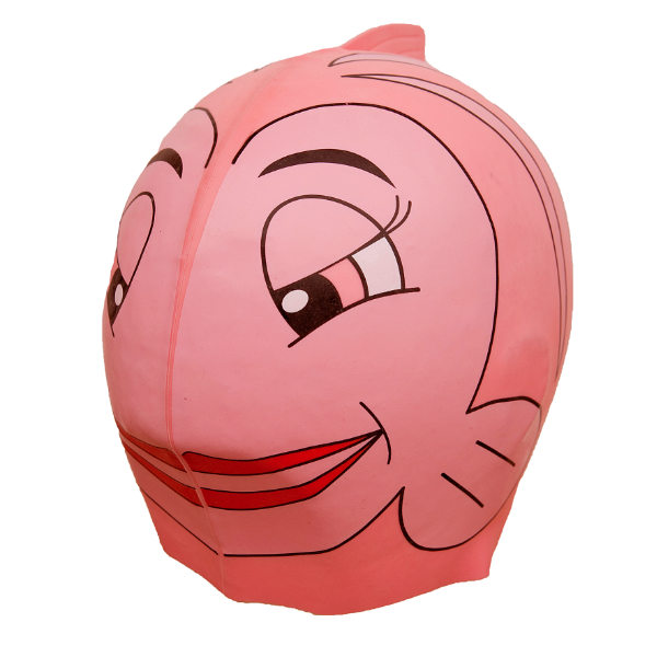 SwimFin Chidrens Swimming Aid - Pink Fish Cap