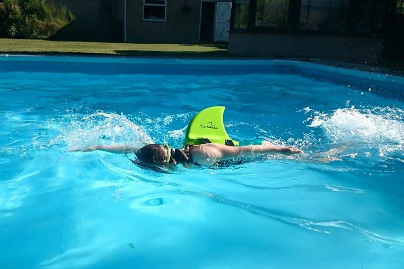 Advanced Swimmer Using SwimFin Children's Swimming Aid